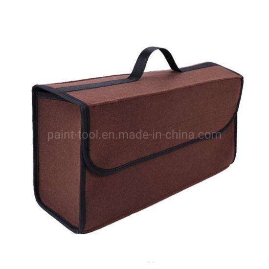 Car Trunk Organizer Storage Bag Foldable Felt Auto Car Boot Organizer Storage Box Travel Luggage Tools Tidy Car Styling