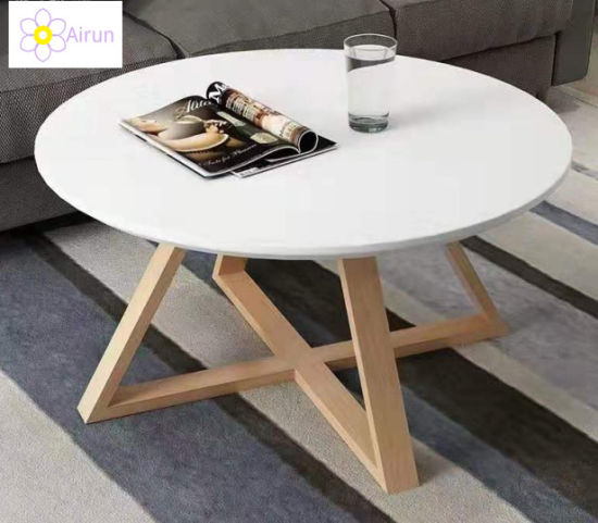 Nordic Solid Wood Coffee Table Modern Minimalist Round Mini Wood Table China Living Room Furniture Coffee Table Made In China Com