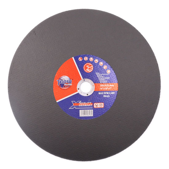 Factory 350*30*25mm Big Size Single Net Cutting Disc Cut off Wheel for Metal Stainless Steel