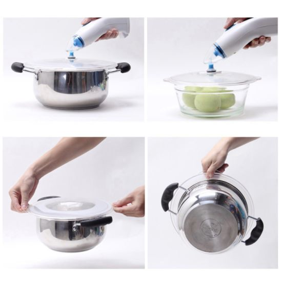 Reusable Universal Silicone Vacuum Sealing Pots&Pans Cover Lids for Food Storage
