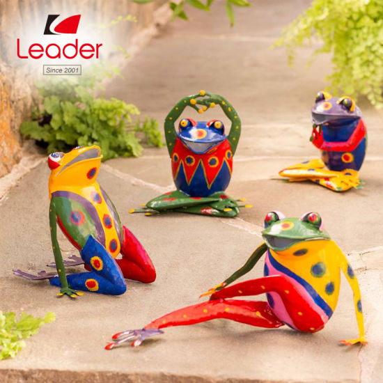 Large Colorful Handcrafted Metal Climbing Frog Garden Sculpture China Frog Figurine And Metal Frog Sculpture Price Made In China Com