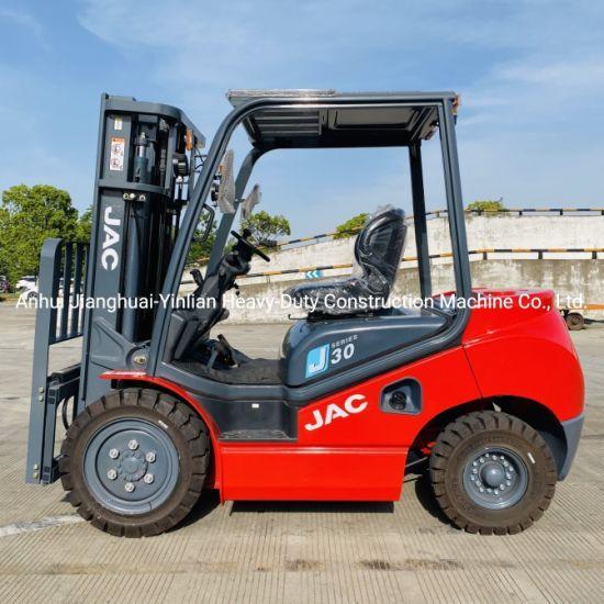 JAC Diesel Forklift Cpcd30j / Internal Combustion Forklift / Automatic Forklift