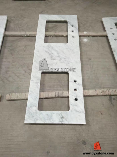 Carrara White Marble Polished Countertop for Kitchen and Bathroom pictures & photos