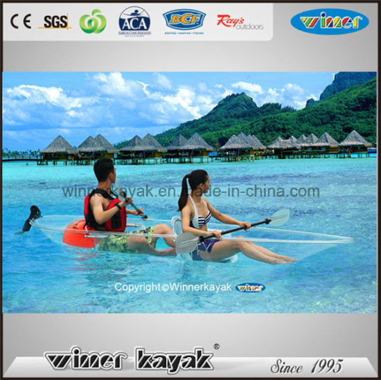 2 Seaters High Quality Transparent Kayak for Sale pictures & photos