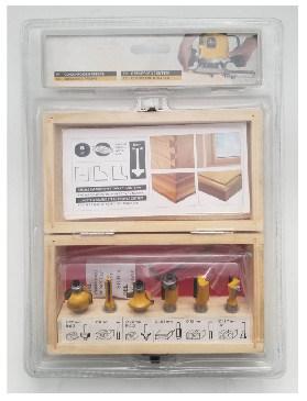 Woodworking Tools - 6PCS Tct Router Bit Set C