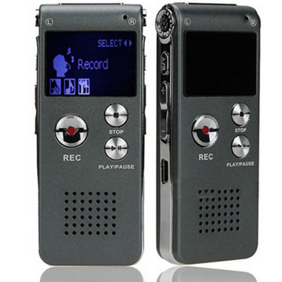 8g Card LCD Rechargeable Stereo Playback Speaker USB Voice Recorder