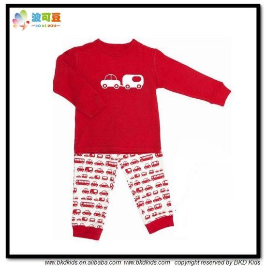 Car Printing Kids Garment Long Sleeve Kids Pajamas