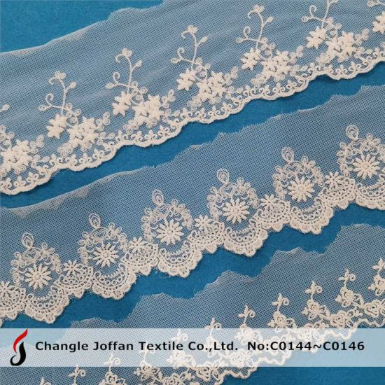Mesh Fabric Polyester Trimming Lace Embroidery Lace for Dress Material (C0144)