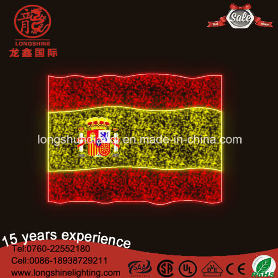 High Quality LED 220V Outdoor Pakistan National Flag for Decoration Lights pictures & photos