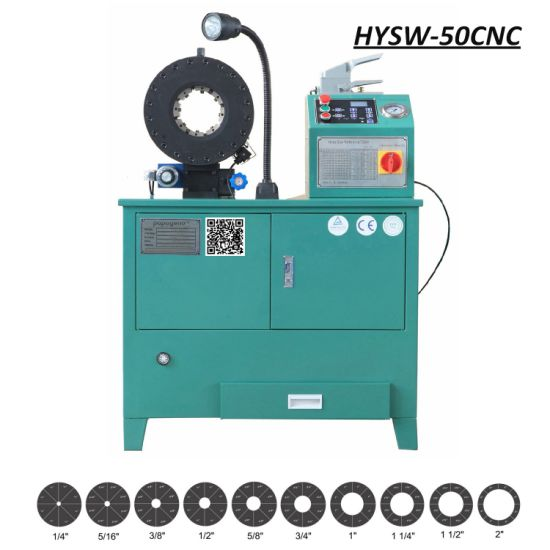 "HYSW-50CNC High Precision Digital Controlled 2"" Hydraulic Hose Pressing Crimping Machine"