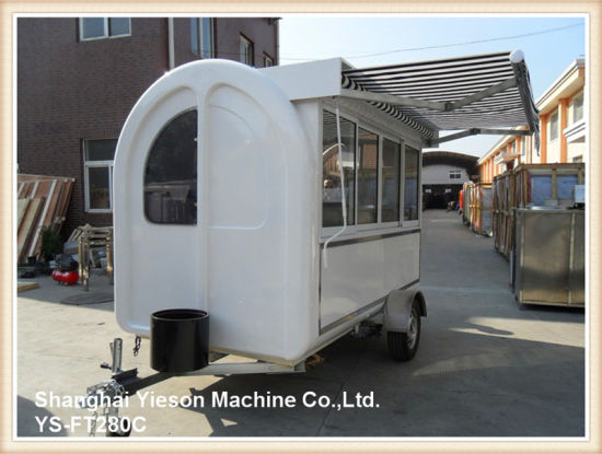 Ys-FT280c Mobile Restaurant Catering Trailers with Ce