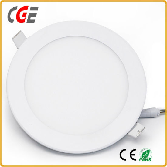 LED Panel Light AC85-265V High Lumens 3W/6W/9W/12W/18W/24W Recessed LED Panel Super Slim Round LED Ceiling Light pictures & photos