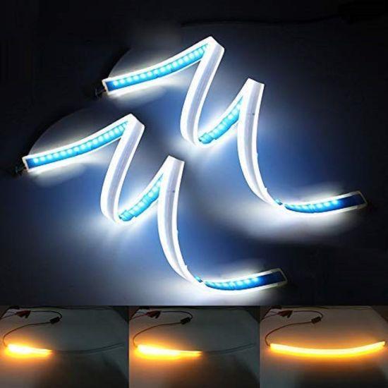 Automotive LED Strips, Flexible Dual Color LED Headlight Surface Strip Best Switchback LEDs