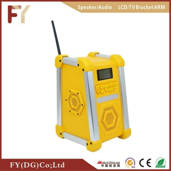 Factory Direct Fy 0810 Portable Worksite Speaker with FM Radio Inside and Outside
