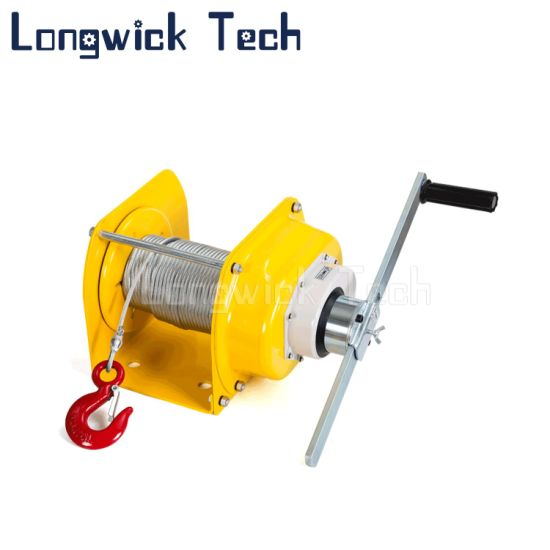 Yellow Wire Rope Heavy Duty Hand Manual Lever Pulley Winch