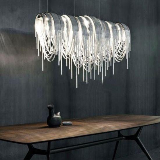 china tassel aluminum chain pendant light luxury tassel hanging