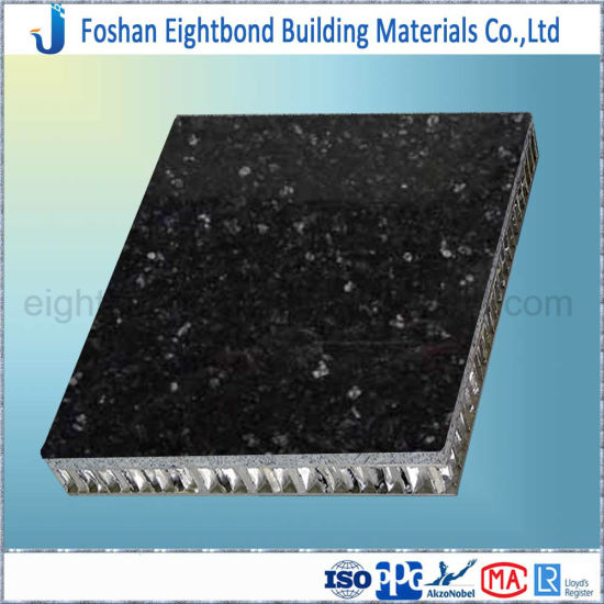 Black Color Granite Stone Veneer Composite Honeycomb Panel pictures & photos