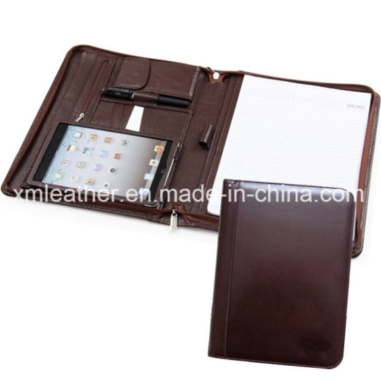 China Leather Tablet Case Resume Portfolio Briefcase for Interview