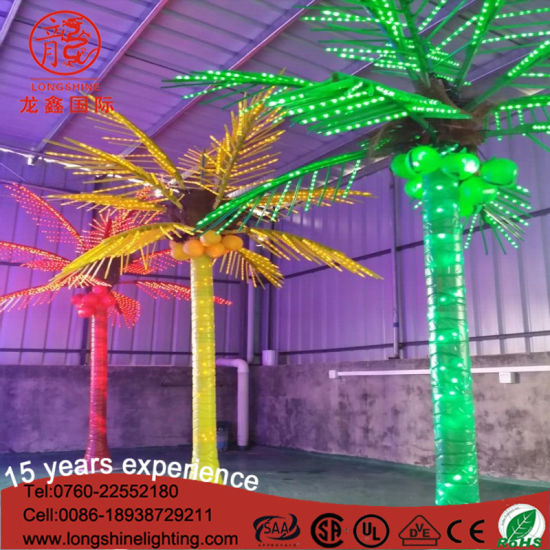 China Outdoor Led Emulation Coconut Palm Tree Decoration Light For
