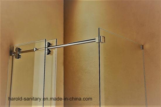 China Na-04 Frameless Round Sliding Rod Shower Enclosure - China ...