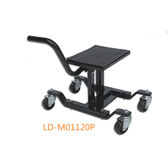 300lbs Portable Motorcycle Dirt Bike Lift Jack Stand With Wheels