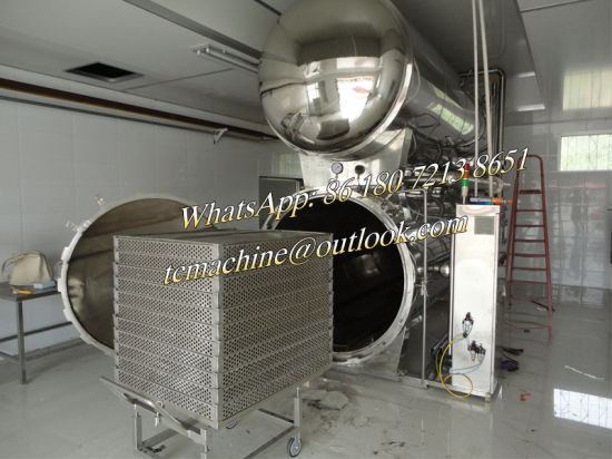 PLC Control Sterilizer for Food and Beverage pictures & photos