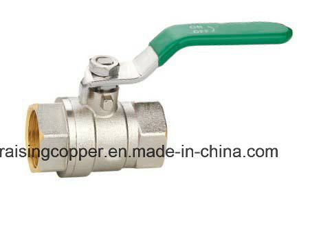 Full Bore Nickel Plated Brass Ball Valve pictures & photos