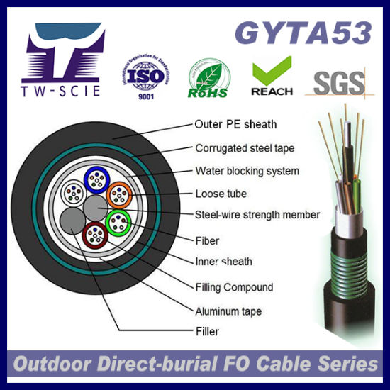 Factory High Quality Optic Fiber Cable GYTA53 pictures & photos