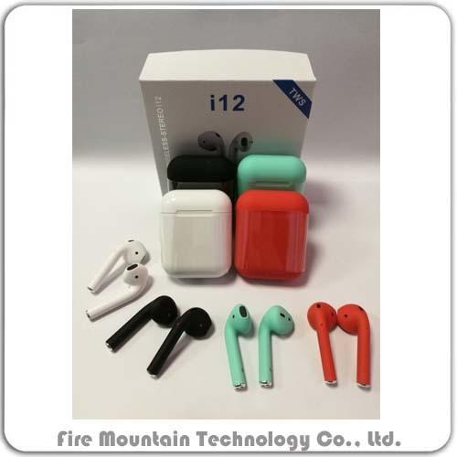 Headphone Bluetooth Headphone Wireless Bluetooth Headphone Mini Blue Tooth 5.0 True Stereo Wireless Earphone with Touch Control Headset I12