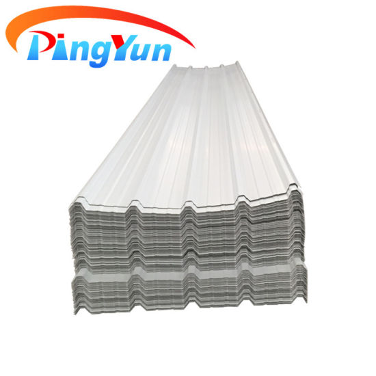 New Technology Construction Materials of PVC Plastic Roof Tiles Trapezoidal Corrugated Plastic UPVC Roofing Sheet