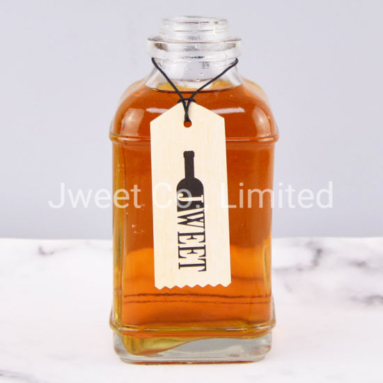 Hot Selling Small Capacity Square Spirits Glass Bottle Clear Color
