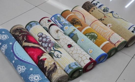 Cotton Printed Anti-Slip Door Mat/Rugs #4, Super Water Absorbing