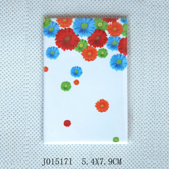Hot Flat Tin Fridge Magnets with Flower pictures & photos