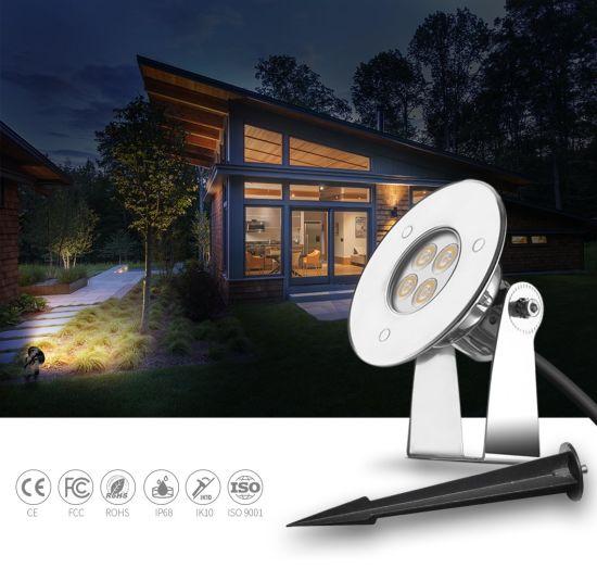 DC24V Outdoor Garden 3W Insert Ground LED Pin Spike Light