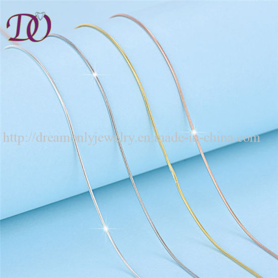 """925 Sterling Silver Snake Chain Necklace 1mm 18/"""""""