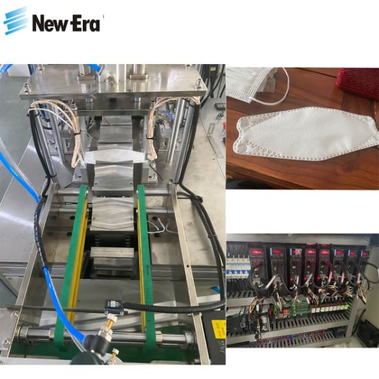 Full Automatic Disposable Folding Surgical Kf94 Fish Type Face Mask Making Machine