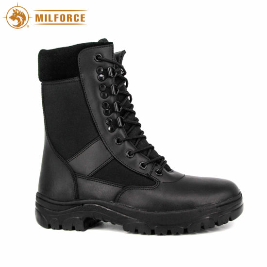 Genuine Leather Police Shoes Slip Resistant Tactical Combat Boots (black/desert) pictures & photos
