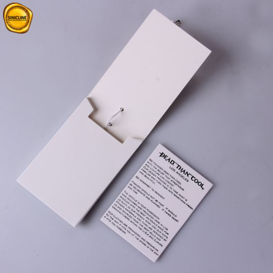 Sinicline Paper Envelope Hang Tag Label with Luxury Design