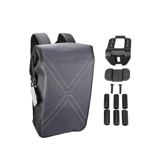 Bike 600d Polyester Waterproof Backpack Pannier Bag 9.6L