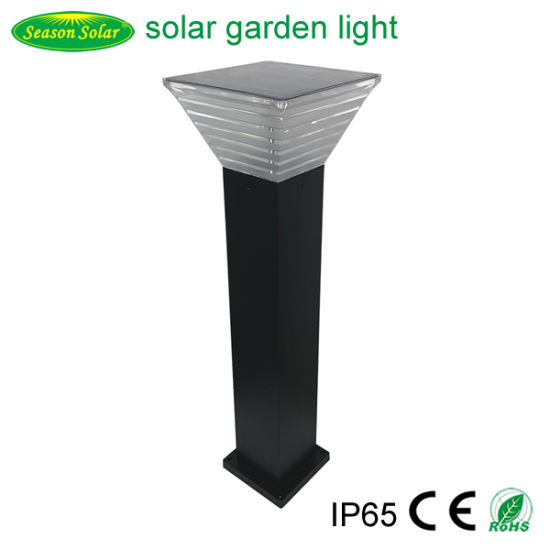 Height Customized Alu. Material Lamp Solar Powered Outdoor Garden Light with Warm+White LED Light