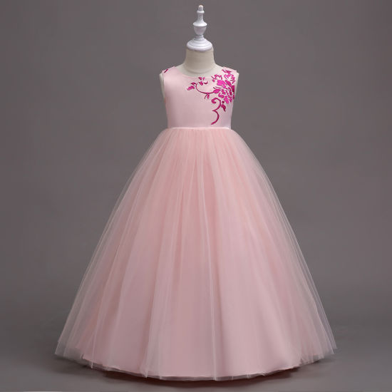 Sleeveless Cotton Party Female Baby Princess Wedding Evening Gown