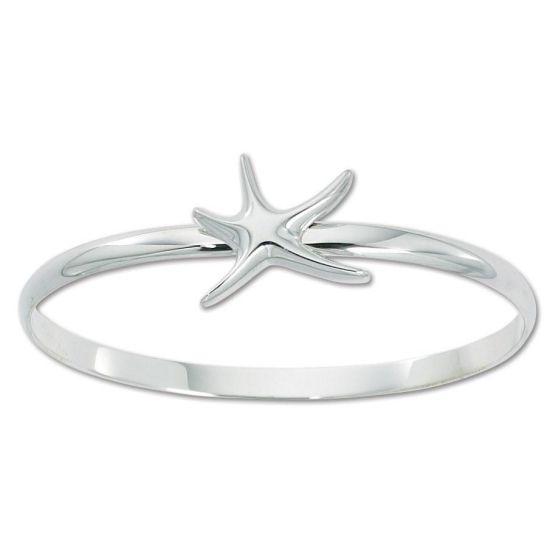 925 Sterling Silver Bangle Starfish Design Bracelet Fashion Jewelry Jewellery