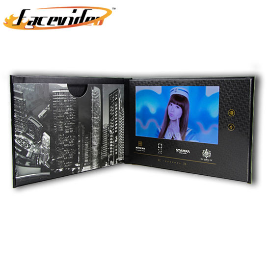 China Facevideo Happy Birthday Christmas Business Lcd Screen Video