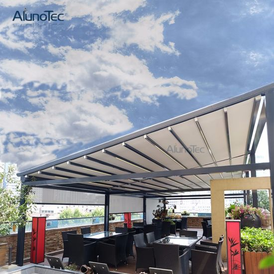 Factory Wholesale Retractable Awning with LED Lights
