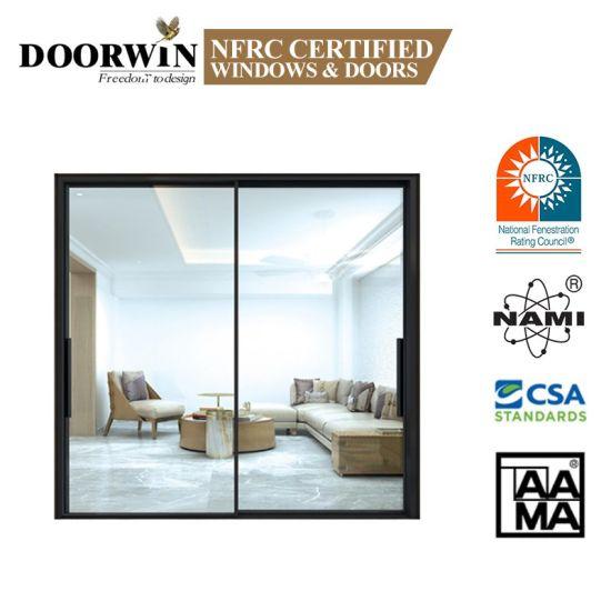 Customized Aluminum Two Tracks Narrow Sliding Glass Door/ Slim Frame Sliding Doors Price