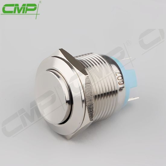 CMP Waterproof Normally Open Momentary Switch Stainless Steel 19mm Push Button