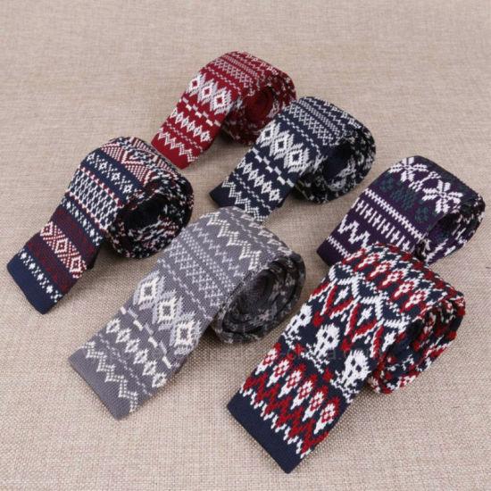 China Custom Knit Ties Mens Knitting Necktie Silk Mens Knit Ties