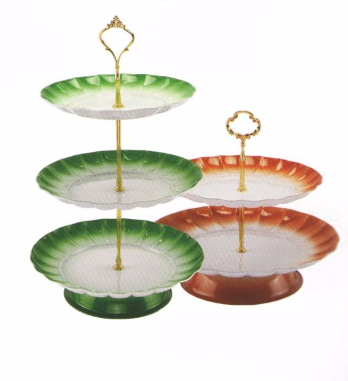 Colorful Stainless Steel Kitchenware Oval Tray in Round Design Fruit Bowl Sp019