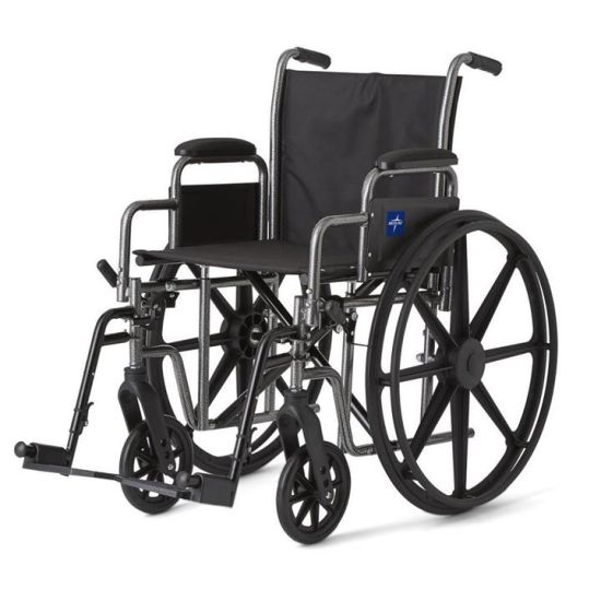 Extra Width Heavy Weight Large Size Durable Steel Manual Wheelchair