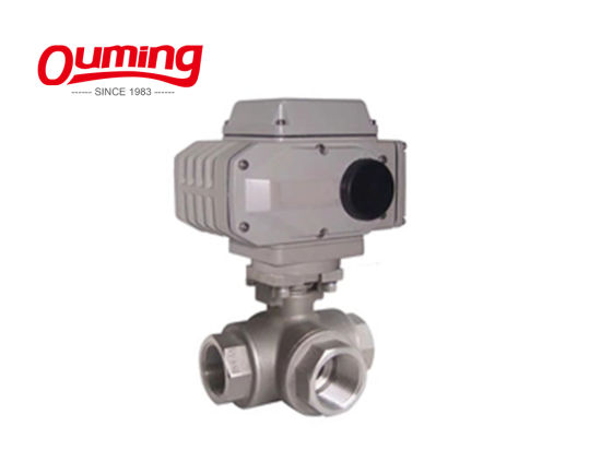 3 Way Normal Temperature Water Motor Operated Flange Valve pictures & photos